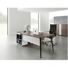 Furniture - Evolve Executive Desk with Right Return - Walnut