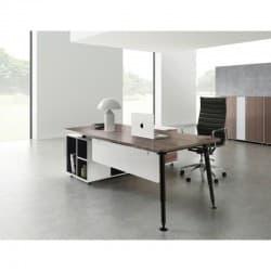 Evolve Executive Desk with Right Return - Walnut