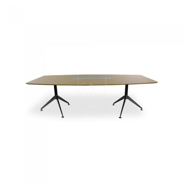 Furniture - Spyder Boardroom Table 2.4m - Zebra Oak