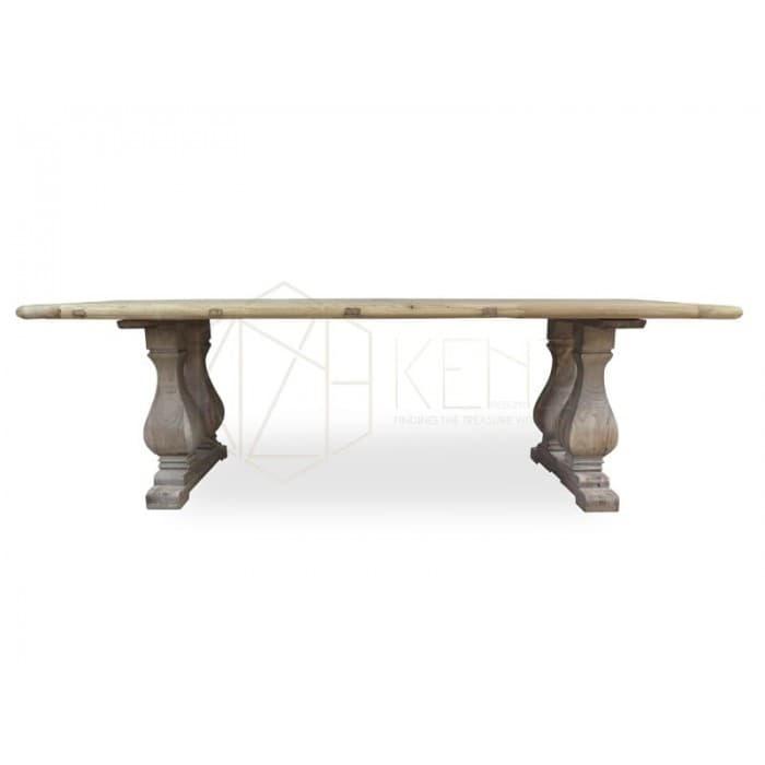 Reclaimed ELM Wood Table 2.4m - Rustic Natural