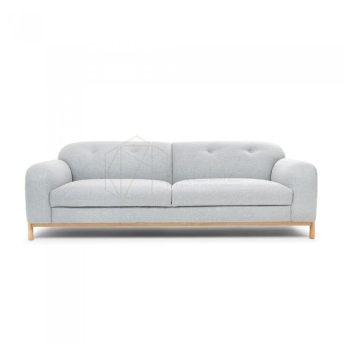 ANETTE CASHMERE 3 SEATER SOFA – LIGHT GREY