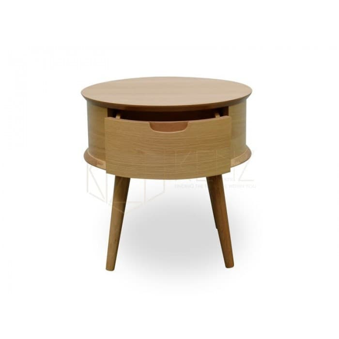 Asta Scandinavian Lamp Side Table - Natural