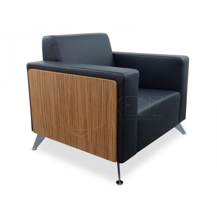 Furniture - Excel 1 Seater Sofa - Zebra Oak