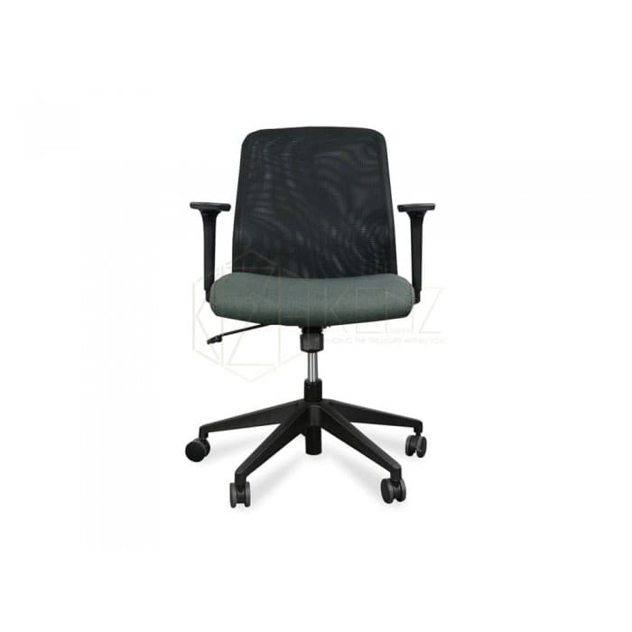 Spark Mesh Chair With Fabric Seat – Black