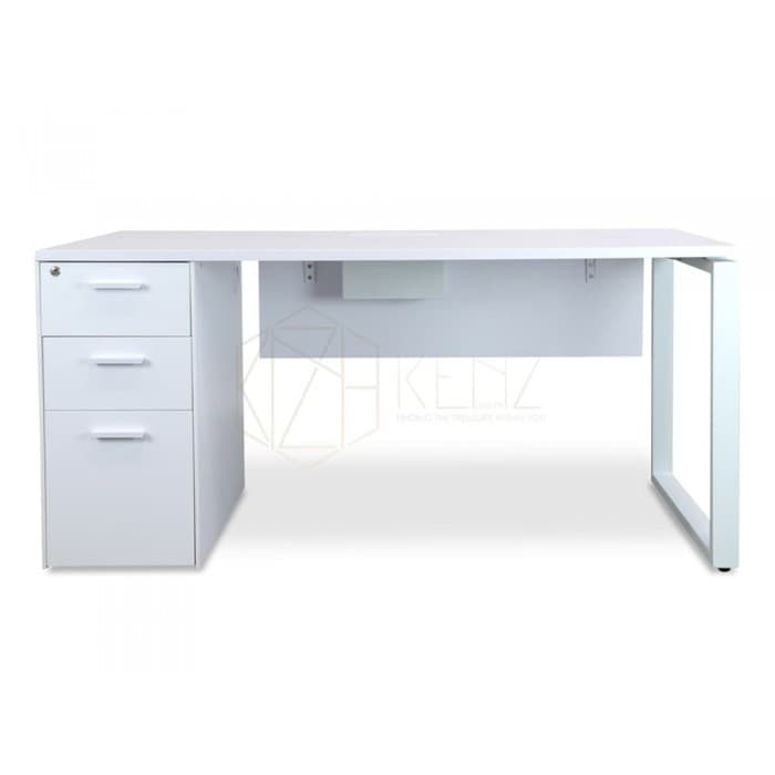 Furniture - Halo 1 Seater Workstation - White