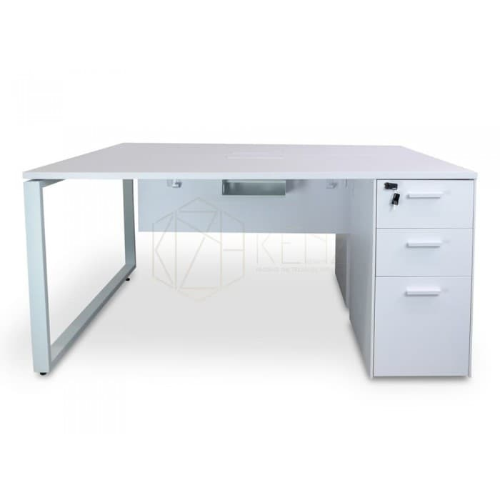 Halo 2 Seater Workstation – White