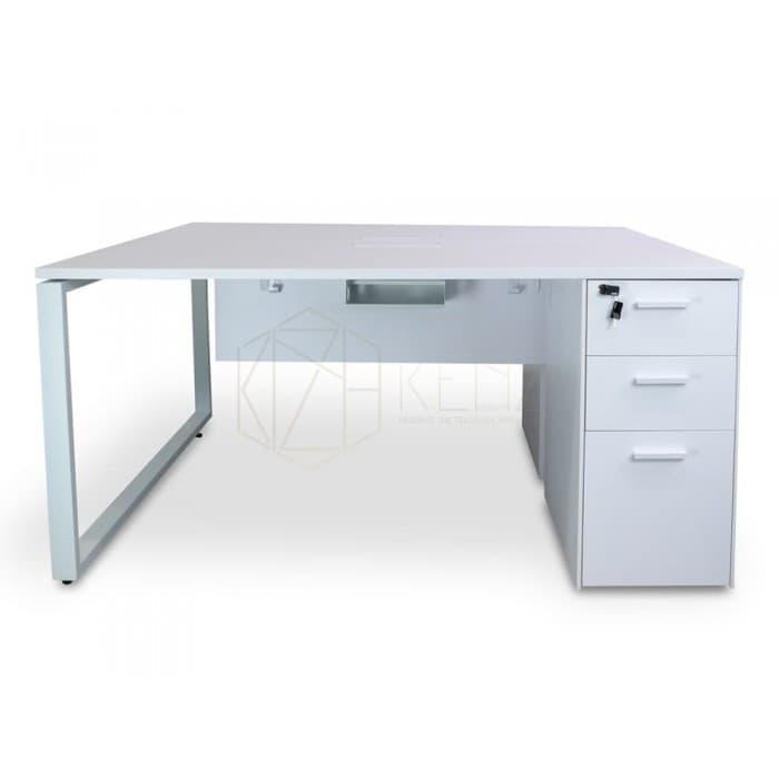 Furniture - Halo 2 Seater Workstation – White