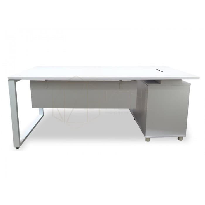 Halo Executive Desk Left Return - White-New Leg