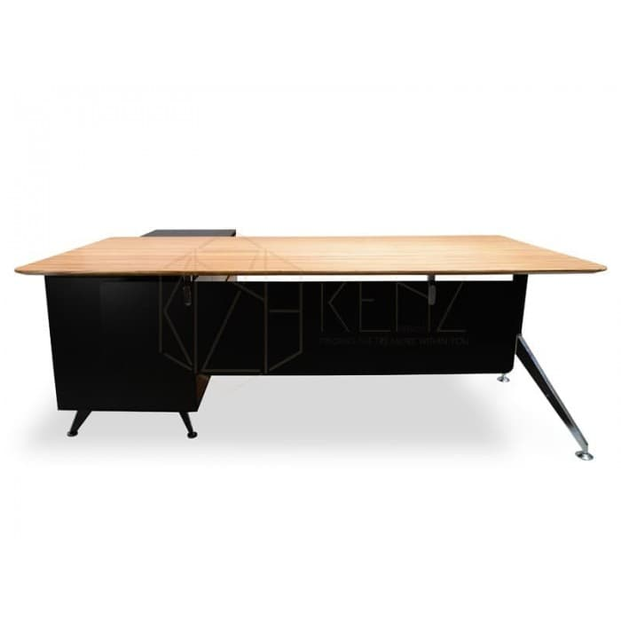 Furniture - Excel 1.95m Executive Desk Right Return - Zebra Oak