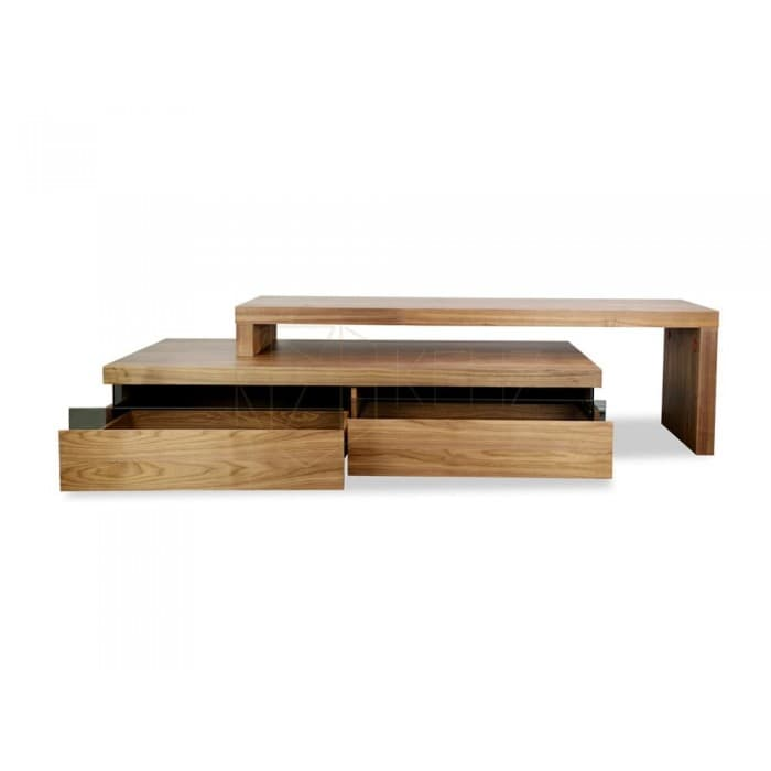 Maze TV Entertainment Unit - Lowline - Walnut