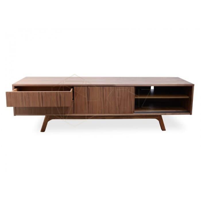 Furniture - Ella TV Scandinavian Entertainment Unit - Lowline - Walnut Veneer