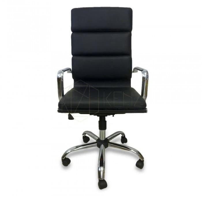 Furniture - Soft Pad Executive Office Chair - Eames Inspired - Black