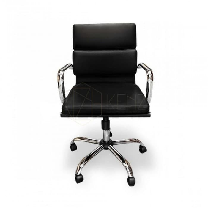 Soft Pad Management Office Chair - Eames Inspired - Black