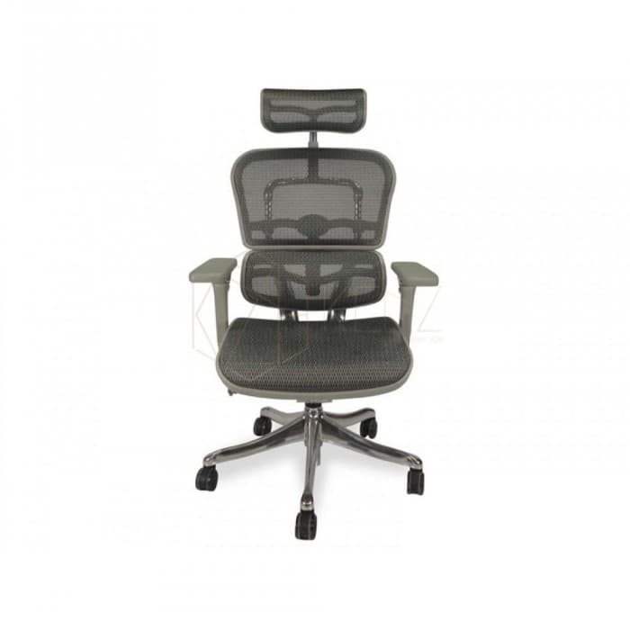 Furniture - Ergohuman Plus Mesh Office Chair - V2 Deluxe - High Back - Grey