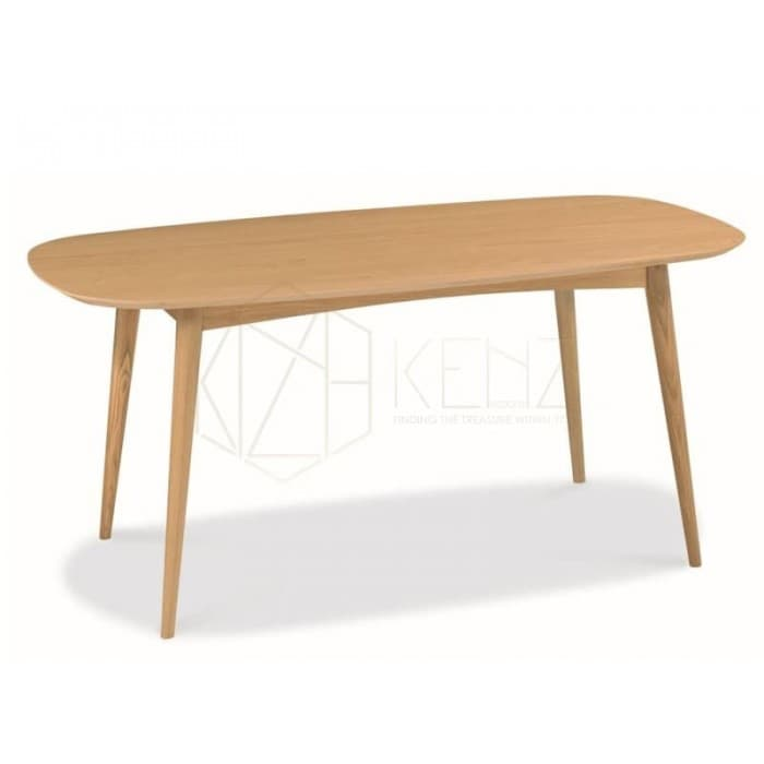 Johansen Scandinavian Fixed Dining Table - Natural