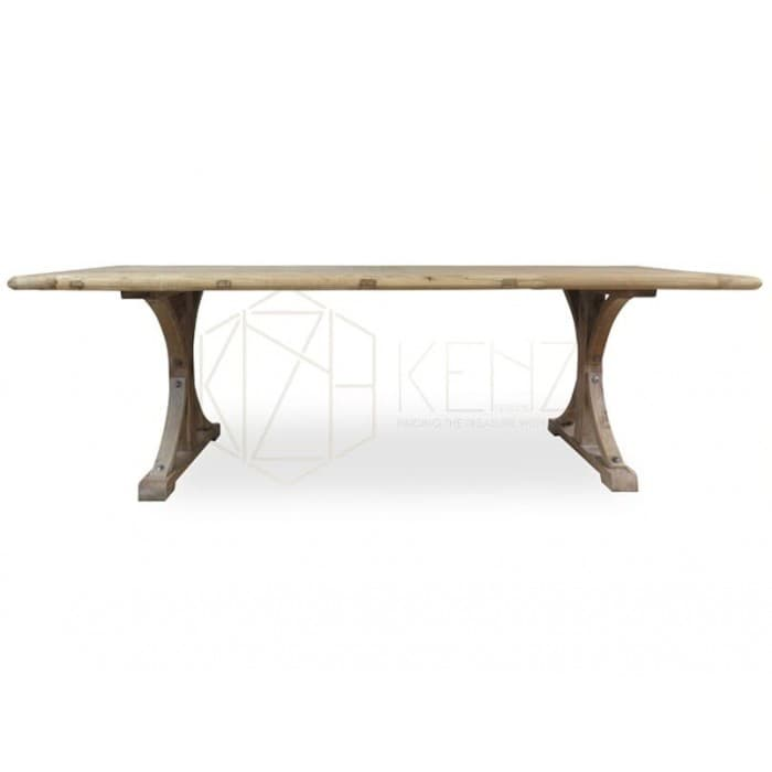 Marcus Reclaimed ELM Wood Table 1.98m - Rustic Natural Oak