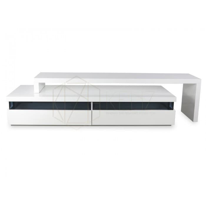 Maze TV Entertainment Unit - Lowline - High Gloss White