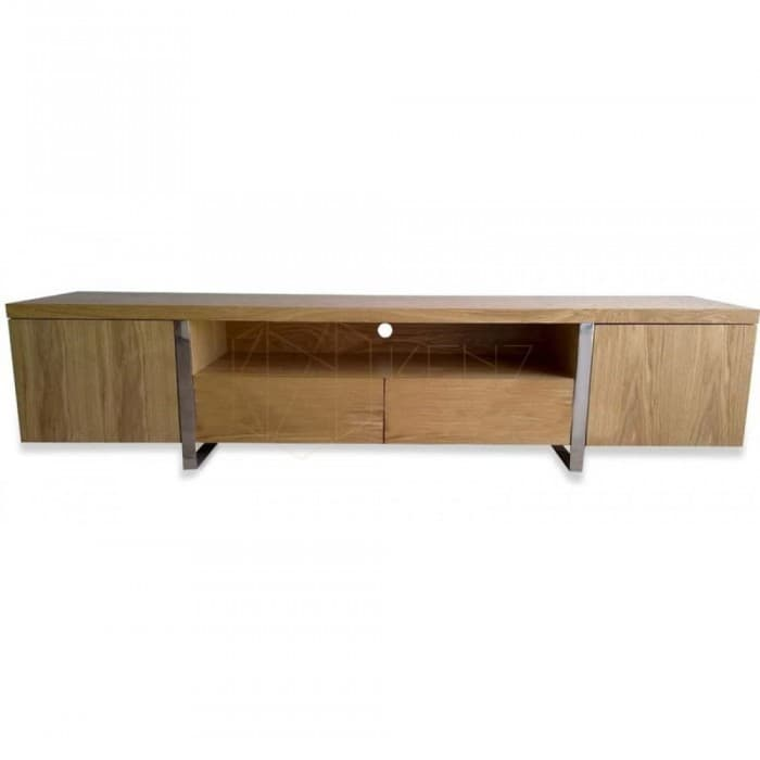 Furniture - New York TV Entertainment Unit - Lowline - Natural Oak Veneer
