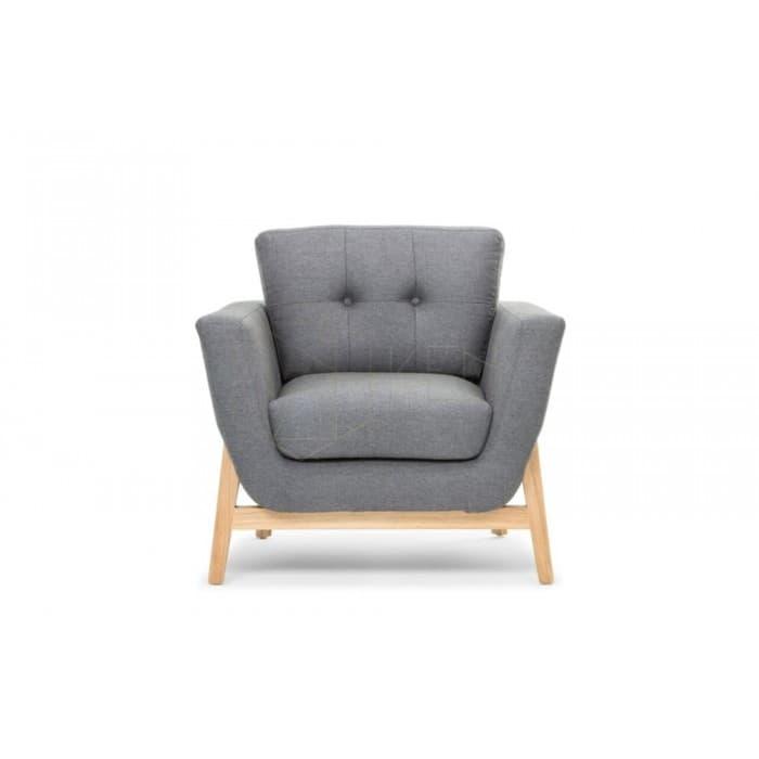 Furniture - Helgrim Armchair - Charcoal Grey
