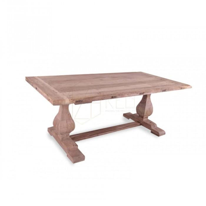 Titan Reclaimed ELM Wood Table 3m - Rustic Natural