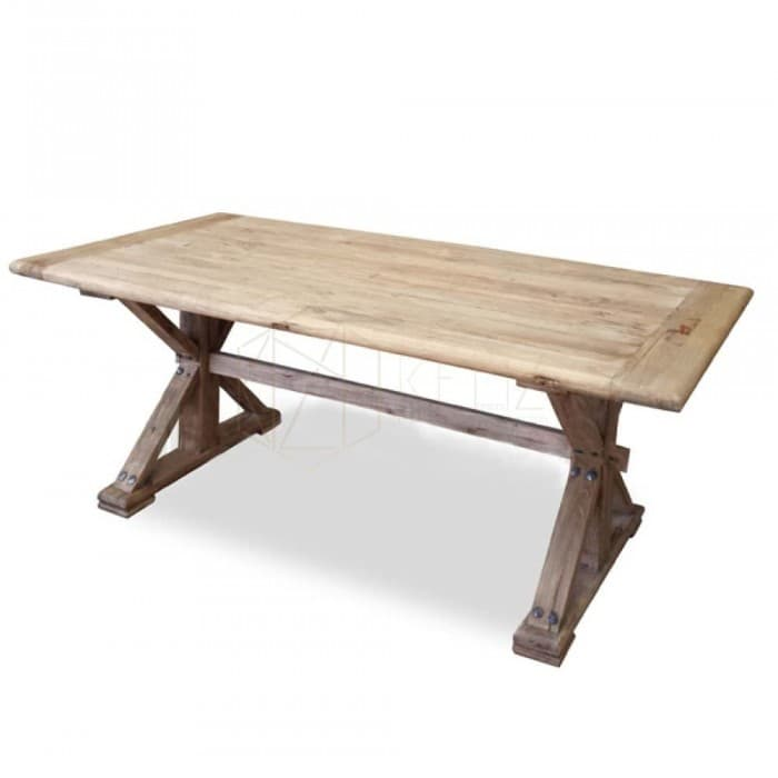 Winston Reclaimed ELM Wood Table 2.4m - Rustic Natural